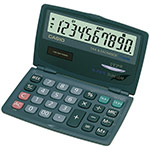 Clearly-laid out pocket calculators with dual leaf and large display | SL-210TE