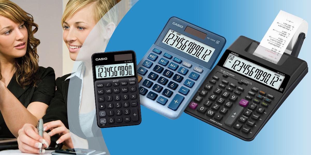 Calculadoras estándar   Productos   CASIO