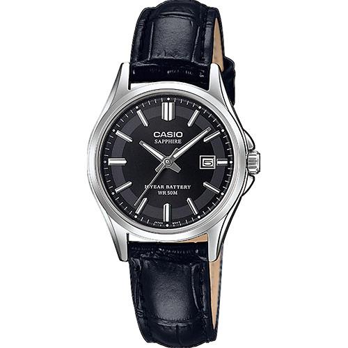 Casio Collection Damenuhr LTS 100L 2AVEF Echtleder Armband