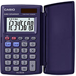 Compact pocket calculators with EURO conversion and protection flap | HS-8VER