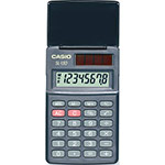 Pocket calculators with purely solar cell operation and protection flap | SL-150